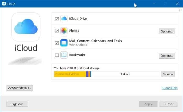 Gỡ cài đặt iCloud và ảnh iCloud từ Windows 10 pic01