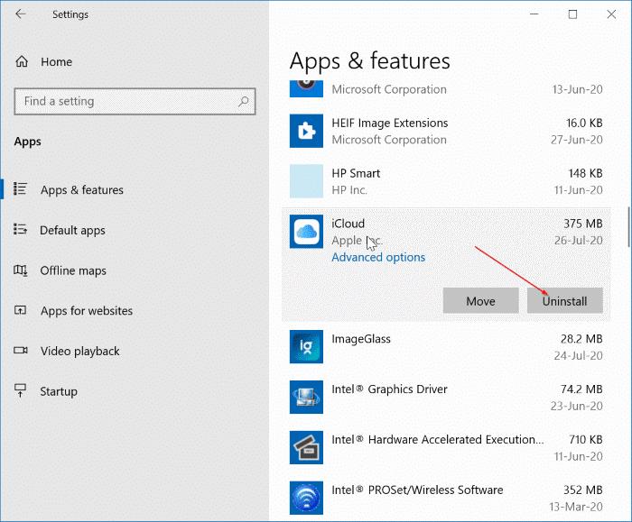 Gỡ cài đặt iCloud và ảnh iCloud khỏi Windows 10 pic21
