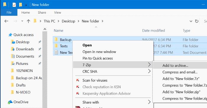 sử dụng 7zip để mã hóa các tệp và thư mục trong Windows 10 pic1