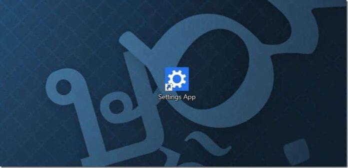 Create desktop shortcut for Settings app in Windows 10 pic