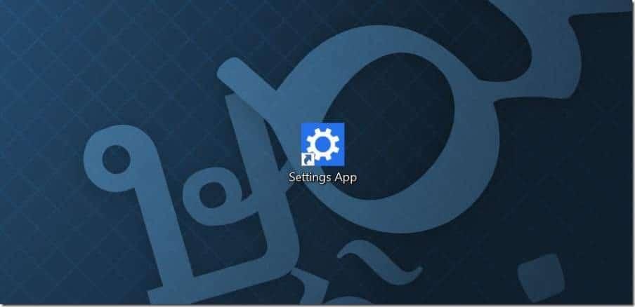 Tạo phím tắt trên màn hình cho ứng dụng Cài đặt trong ảnh Windows 10