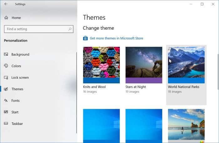 thay đổi chủ đề Windows 10 pic5