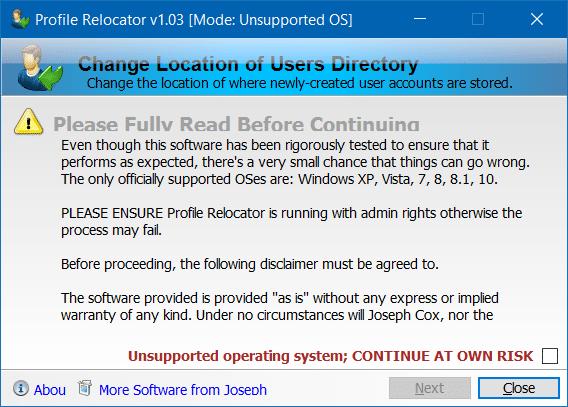 Di chuyển thư mục hồ sơ Người dùng sang ổ đĩa khác trong Windows 10 step1