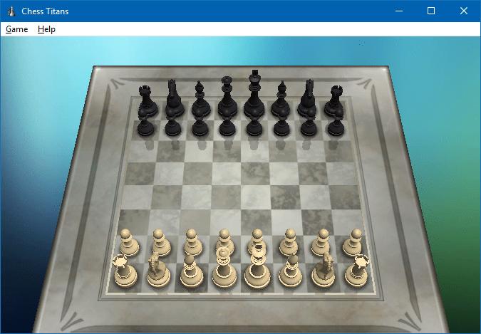 chơi cờ vua khổng lồ trong windows 10