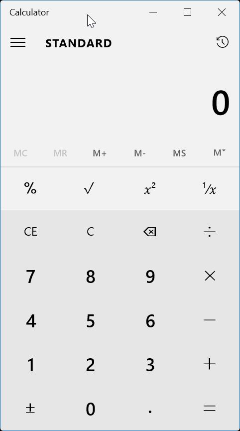 reset or reinstall Calculator in Windows 10