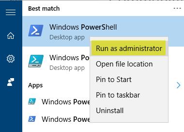 PowerShell - Run as administrator