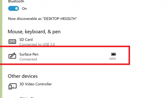 check keyboard and mouse battery level in Windows 10 pic1