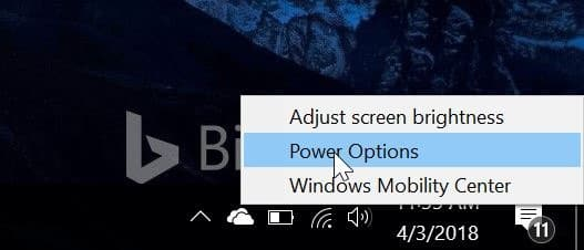 ngăn máy tính xách tay khởi động khi mở nắp trong windows 10 pic1